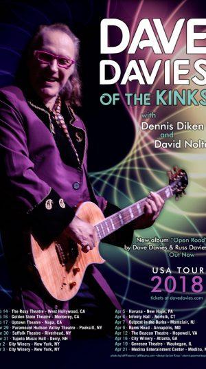 Dave Davies - US Tour 2018
