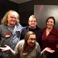 Jon Krop & Barb Orr with Patton Oswalt & Meredith Salenger